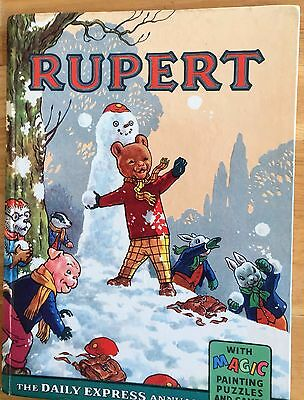 RUPERT ORIGINAL ANNUAL 1962 Inscribed Not Price Clipped Magic Paintings Done VG