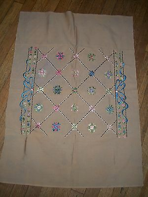 Antique Silk Embroidery Unfinished Panel
