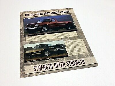 1997 Ford F-Series F-150 Redesign Launch Preview Brochure