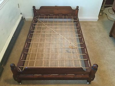 Antique Child Trundle Rope Bed