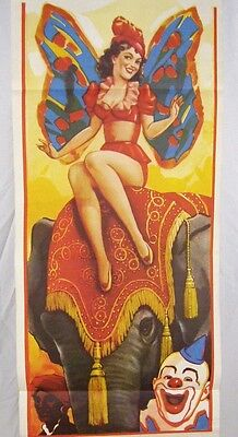 Vintage Clyde Beatty & Cole Bros. Circus Poster Lady w/ Butterfly Wings Fairy