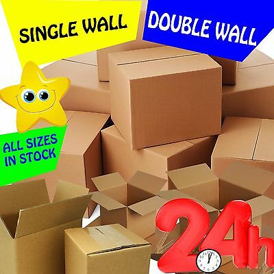 Brand New Single & Double Wall Cardboard Postal Boxes - Made From Recycled Paper