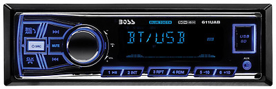 BOSS Audio 611UAB Single Din, Bluetooth, MP3/USB/SD AM/FM Car Stereo, Wireless R
