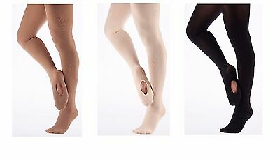 Adults Women Convertible Tights Ballet Dance With Spandex Opaque 60 Denier Tight