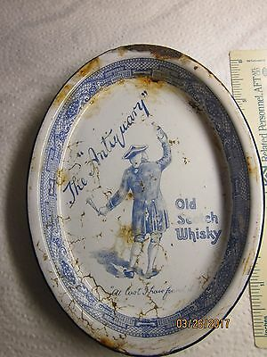 "Antique ""the Antiquary Old Scotch Whisky"" Enamel Tip Tray"