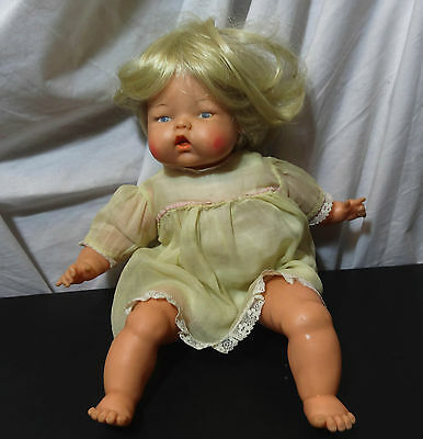 """Tiny Thumbelina 14"""" Doll Ideal In Original Dress 1960's Not Working blonde hair"""