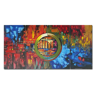 Abstract Hand Paint Oil Painting on Canvas Home Decor Wall Art Colors Framed