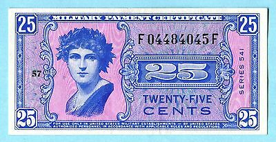 Beautiful Series 541 25c Military Payment Certificate