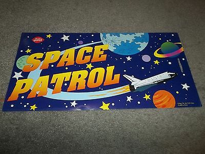 Rare Dairy Queen Promotional Poster Space Patrol Kids Meal Cardboard