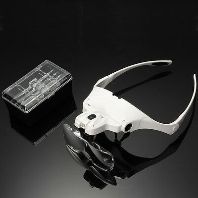 5 Replacement Lens Headset Magnifier Hand Free Magnifying Glass LED Eyelash Exte