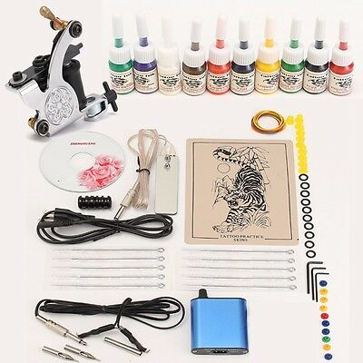 Professional Tattoo Machine Kits With High LCD Power Equipment Supply Set