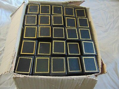Wholesale Lot 100 Gift Ring Jewelry Boxes ~Case~ or ~Display~ Black