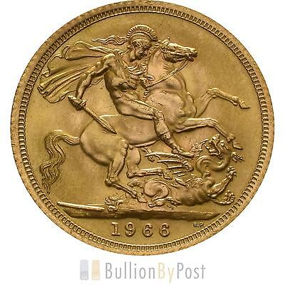 1966 Gold Full Sovereign - Elizabeth II Young Head