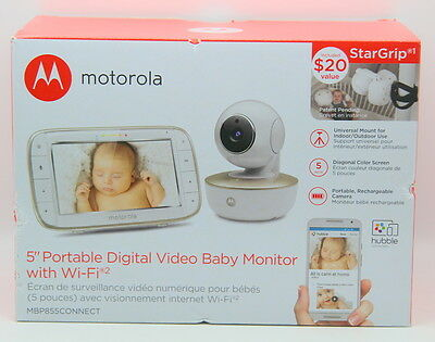 Motorola 5 inch Portable Video Baby Monitor with Wi-Fi - MBP855CONNECT. ((NEW)).