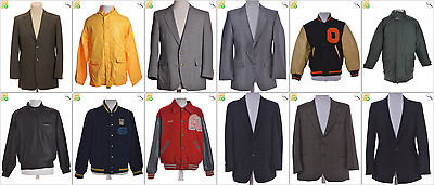 """JOB LOT OF 16 VINTAGE MEN""""S JACKETS - Mix of Era's, styles and sizes (22767)"""