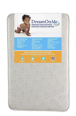 NEW Dream On Me Foam Pack Play Mattress Portable Bed Crib Baby Child Kid Water