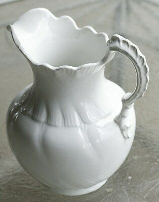 Vodrey Pottery Admiral Shape Dense White Ironstone Water Pitcher 1896-1928