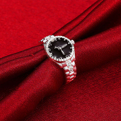 Fashion Creative Women Silver Finger Ring Watch Personality Jewelry Gift HOT