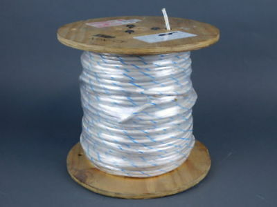 8AWG Stranded White/Blue Wire, 500ft Spool 1028-8-168B-9 - NEW Surplus!
