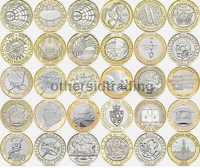 Various Rare Two £2 Pound Coin UK Royal Mint Albums Commemorative Valuable
