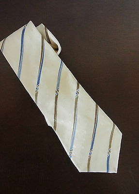 LANVIN Krawatte Tie 100 % Silk Seide Geometric  Made in France