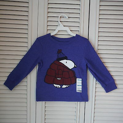 Old Navy Boys Blue Snoopy  Long  sleeve Shirt size 2T New NWT cotton