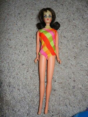 1968 Vintage Original Mod Marlo Flip Brunette Tnt Barbie In Oss