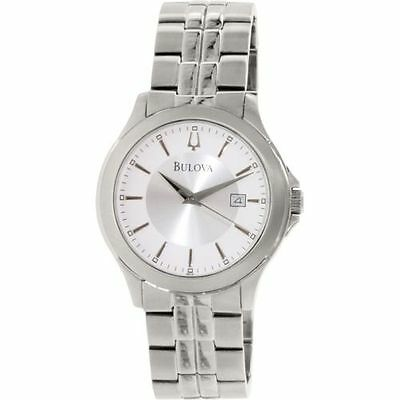 Bulova Men's 96B167 Dress Stainless Steel Silver Dial Quartz Date Watch