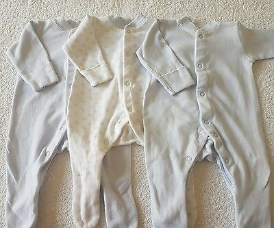 baby boy set of 3 baby grows. Size tiny baby
