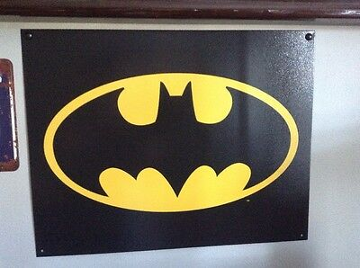 Batman Metal Sign Large Size For Wall Bedroom Super Hero Party
