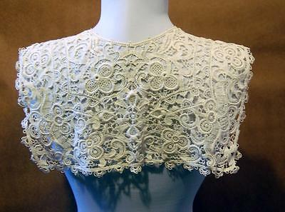 Antique Victorian Irish Collar Hand Crochet lace GORGEOUS