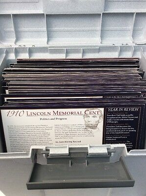 Lincoln Memorial Cent Collection And International Coins With Container