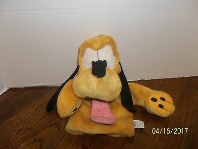 "Walt Disney Applause Pluto Dog Sleeve Hand Puppet Plush 11"" Tall"