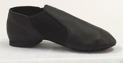 Women's DANCE CLASS by Trimfoot Black Leather Split sole Flats Jazz Shoes sz. 9