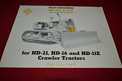 Allis Chalmers F-100 Cable Control Units HD16 HD21 Crawler Dealers Brochure BWPA