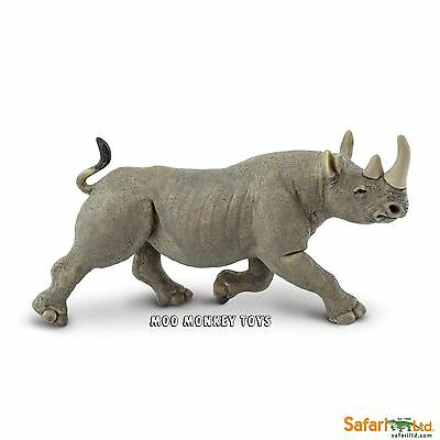 BLACK RHINO  Safari Ltd # 228929 Endangered African Wild Animal Replica  NWT