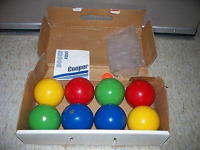 Vintage Cooper Tournament Bocce Wood Balls Set By Irwin Made In Italy