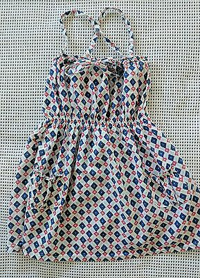 COUNTRY ROAD BABY GIRLS SUMMER DRESS SZ 2 18-24 months BLUE/WHITE/RED