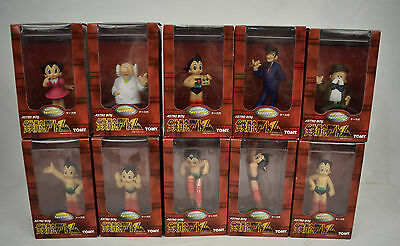 Astro Boy Figure Tomy Set 10 Display Case Atom Uran 1998 Japan New