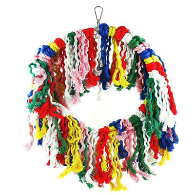 Adventure Bound Bird Toy Funky Cotton Rope Ring for Medium to Large Parrots