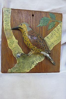 Vintage folk art song bird carving decoy Eastern woodpecker Northern Flicker