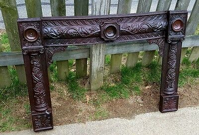 Art Nouveau Iron Edwardian Architectural Salvaged Fireplace Surround