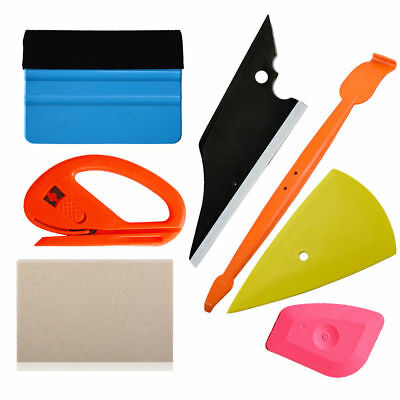 6 in 1 Car Window Tint Tools Vinyl Squeegee Scraper Wrapping Application USA