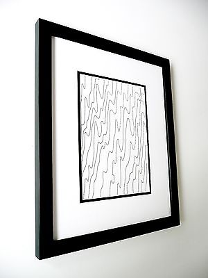 MICK PLOHL - Tidal Lines - Ink on Paper - Custom Framed - Free Shipping