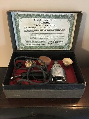 Antique Circa 1911 Royal Electric Vibrator Medical Device Complete Original Box