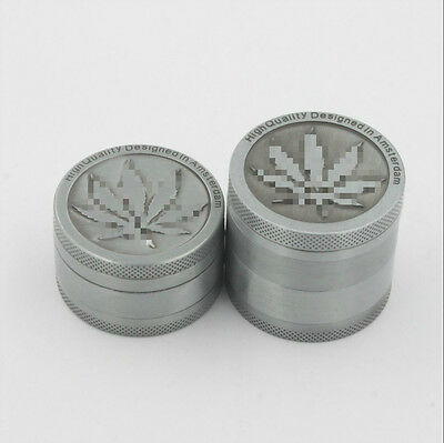 3 layers Herb Grinder Spice Tobacco/Weed Smoke Zinc Alloy Crusher Leaf Design