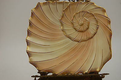 Antique Royal Worcester  Shell Plaque Plate   ~Wow ~ Very Rare ~