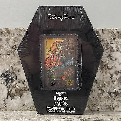 Disneyland & Nightmare Before Christmas Themed Deck of Playing Cards in Case