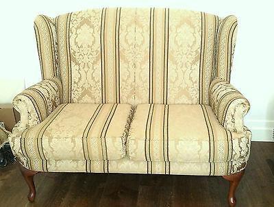 Reproduction Antique 3 Piece Queen Anne Lounge Setting