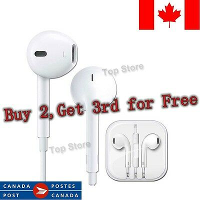 Earphones EarBuds for Apple iPhone 4, 5, 6 Headphones With Mic and volume